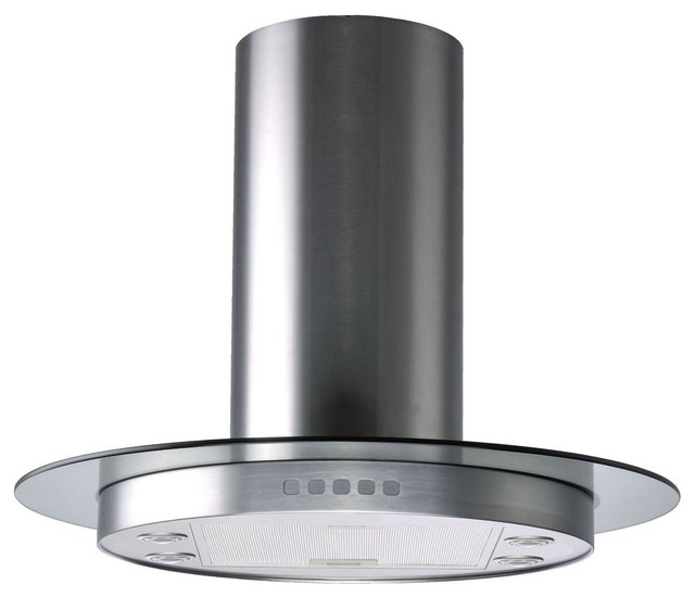 ... Tempered Glass by Kitchen Bath Collection modern-range-hoods-and-vents