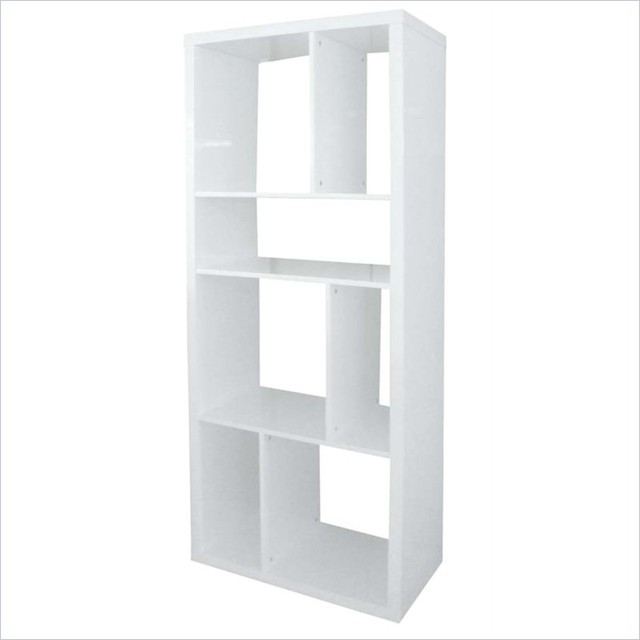 Eurostyle Reid Shelving Unit in White Lacquer - Bookcases ...