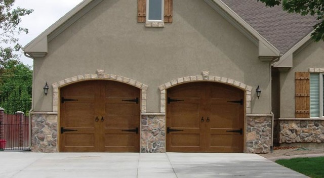 Gorgeous wood carriage style garage door farmhouse for Gorgeous garage