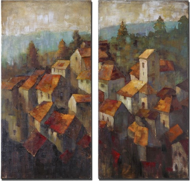 Uttermost Rooftops I, II, S/2 contemporary-artwork