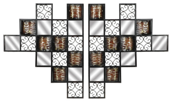 Metal Squares Wall Plaque - Set of 2 contemporary-accessories-and-decor
