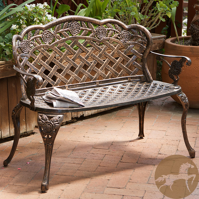 Christopher Knight Home Lucia Outdoor Garden Bench Contemporary Outdoor B
