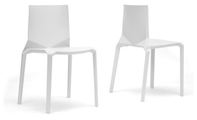 Baxton Studio Zetta White Plastic Stackable Modern Dining