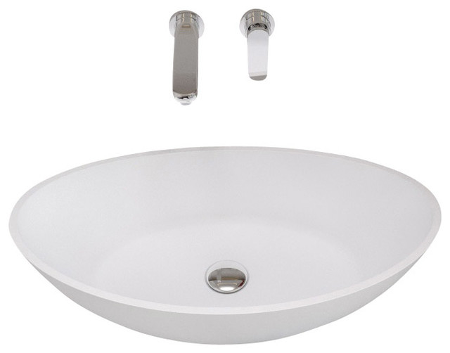 Solid Stone Sink : Solid Surface Stone Resin Sink, Glossy - Contemporary - Bathroom Sinks ...