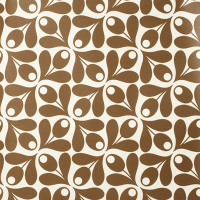 Orla Kiely Acorn Wallpaper modern wallpaper