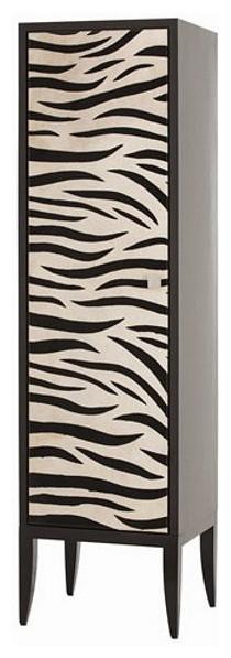 Arteriors Home Bea Zebra-Printed Hide/Wood Single Door Cabinet - Arteriors Home - Storage ...