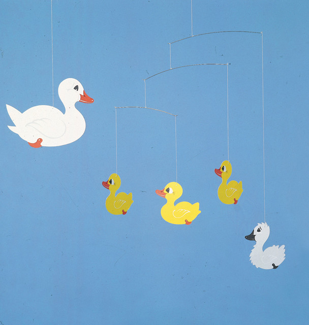 Flensted Mobiles - Ugly Duckling modern-baby-mobiles