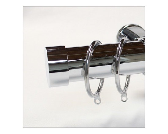 "chrome collection - chrome curtain rod. 1.5"" diameter rod by Urban Decors"