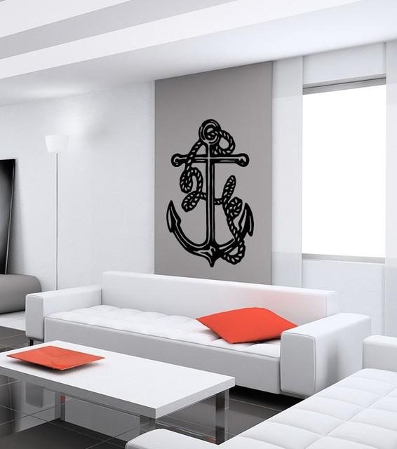 Anchor cute abstract design wall vinyl sticker decals art for Dragon ball z bedroom ideas