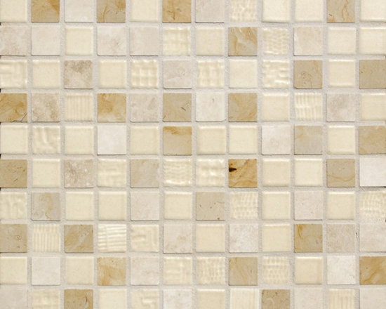 Cascade Blend #1 - The Cascade Collection includes 11 different blends of ceramic tile and natural stone. Can Be used for bathroom, kitchen, fireplace, and just about anywhere.
