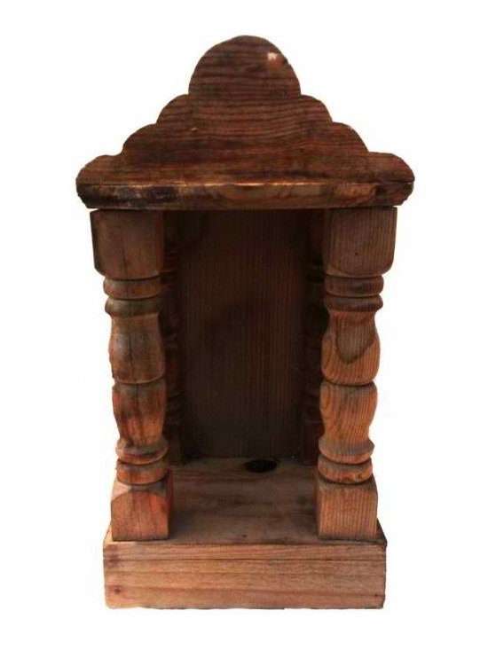 Wood Niche - Rustic wood niche from South America.  Great for displaying your favorite item,or a candle or as an alter.