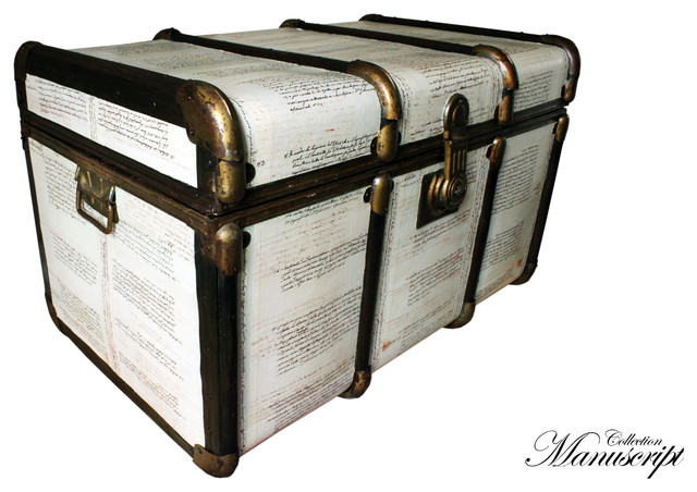 Unique Bentwood Vintage Steamer Trunk Coffee Table Toy