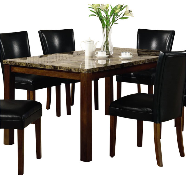 coaster telegraph rectangular dining table with faux