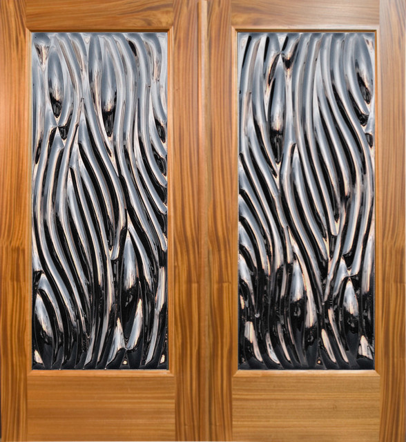 """Viento"" - Contemporary Double Door Entry tropical front doors"