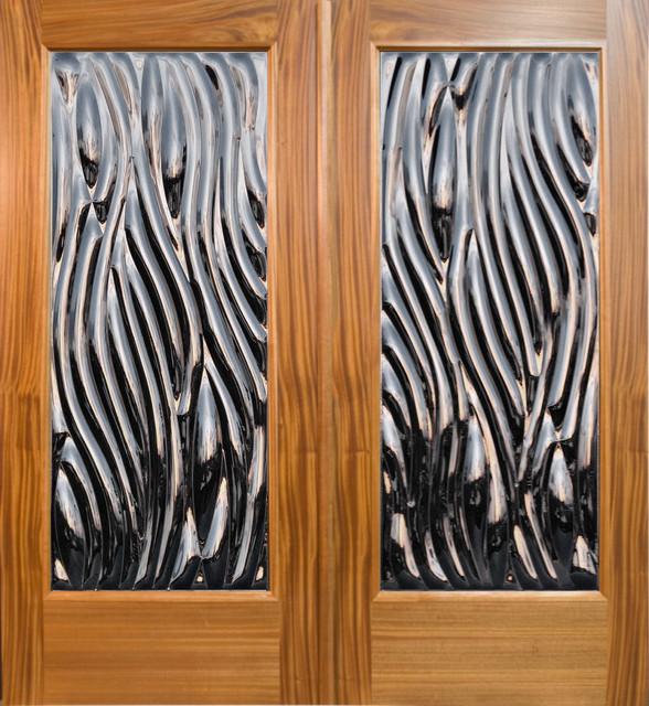 """Viento"" - Contemporary Double Door Entry tropical-front-doors"