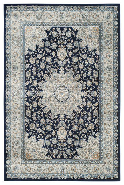 Colin Area Rug Navy Light Blue 8 X11 Traditional Area Rugs