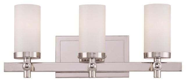 Manhattan 3-Light Bath Bar modern-bathroom-vanity-lighting