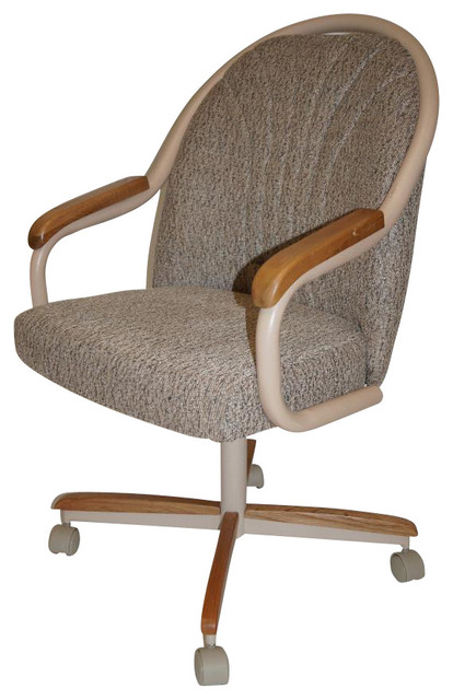 rolling casters swivel and tilt chair traditional dining chairs and