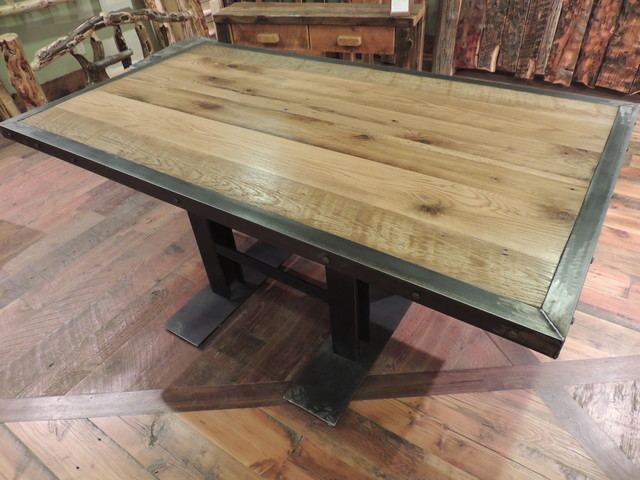 Barnwood dining room furniture rustic dining tables Rustic wood dining table