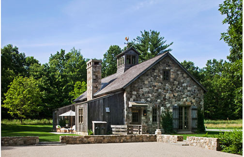 Stone and Timber Refuge traditional-exterior