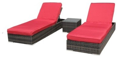 Kontiki St. Lucia Chaise Lounge Set modern-outdoor-chaise-lounges