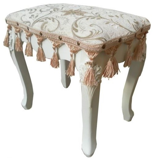 Antique French Dressing Table Stool traditional-bedroom-benches