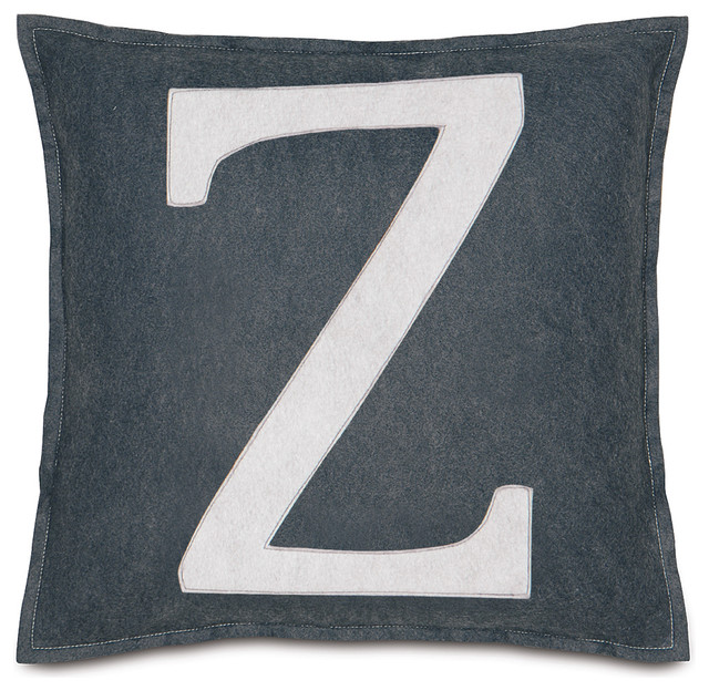 "Leyla's Spell It Out Pillow, Set of 2, ""Z"" contemporary-decorative-pillows"