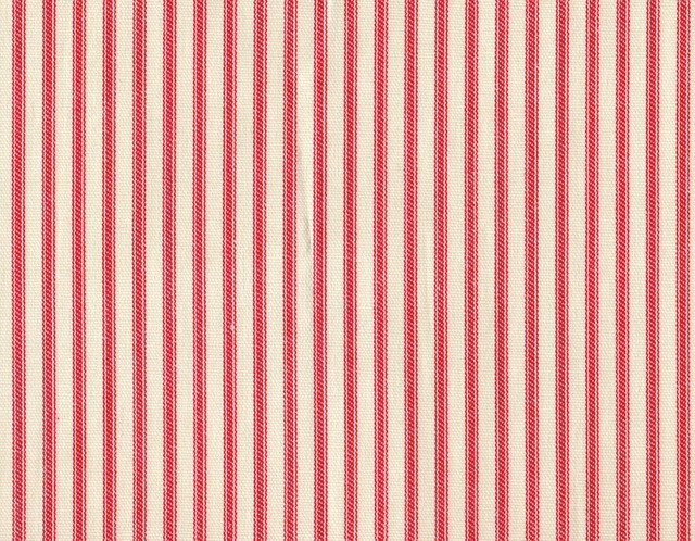 "24"" Tailored Tiers Ticking Stripe Cherry Red traditional-curtains"