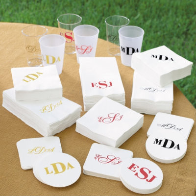 Monogrammed Glassware traditional barware
