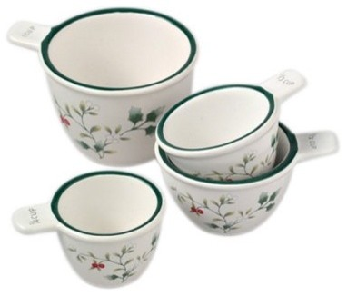 Pfaltzgraff Winterberry Measuring Cup Set modern-measuring-cups-and-spoons