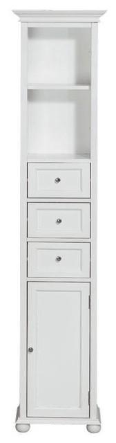 """Hampton Bay 15""""W Standard Linen Cabinet traditional-bathroom-vanities-and-sink-consoles"""