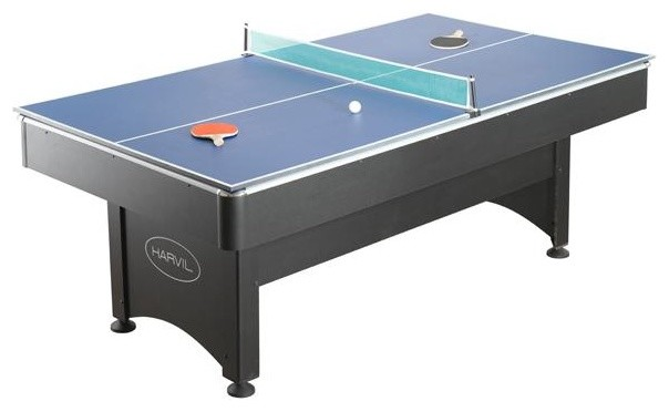 Harvil 7' Pool Table with Table Tennis contemporary-furniture
