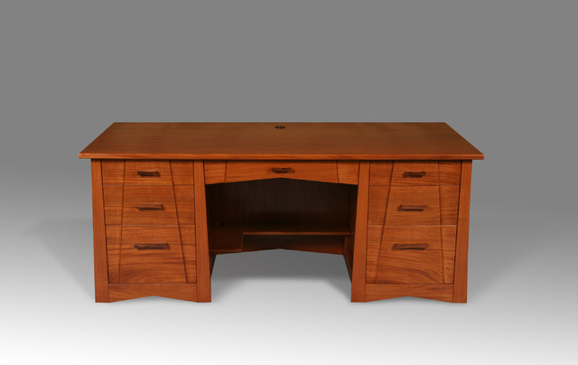 arts and crafts style mahogany desk