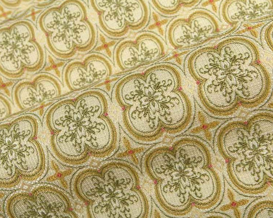 Gazebo Upholstery Fabric in Spring Green - Gazebo Upholstery Fabric in Spring Green is a woven, retro fabric with a kaleidoscope of green, cream, and pink floral shapes that create movement. It has a pink color pop, making it a perfect upholstery to use on sofas, benches, or accent pillows to incorporate green into pink interior designs. This low cost fabric is available in FabricSeen's online fabric store. Made from a blend of 73% rayon and 27% polyester, this upholstery fabric passes 30,000 double rubs on the Wyzenbeek Abrasion Test. Cleaning Code: S; UFAC: Class I; passes CA117 Test. Width 54″; repeat 2.5″ V x 2.38″ H.