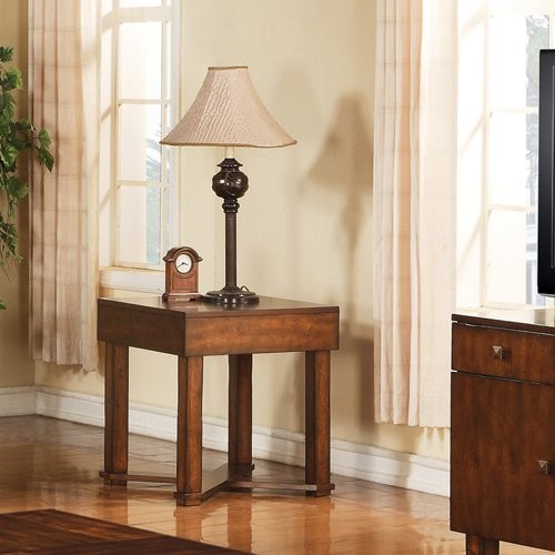 Steve Silver Griffin Square Cherry Wood End Table modern-dining-tables