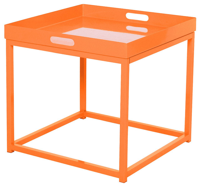 Tray Chic Accent Table, Orange modern-side-tables-and-end-tables