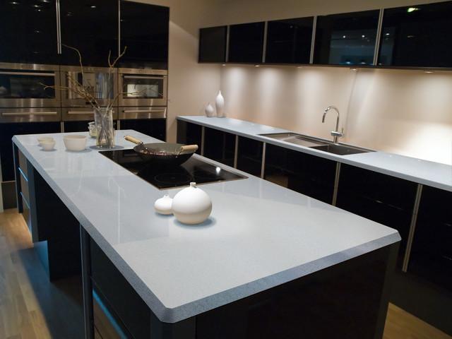 Sparkling White Kitchen countertops