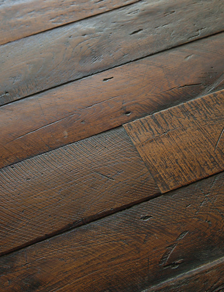Antique french oak large plank wood floors traditional for Reclaimed hardwood flooring