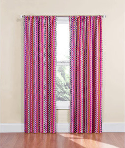 Eclipse Kids Chevron Energy-Efficient Blackout Curtain, Bright Multi - Eclectic - Curtains - by ...