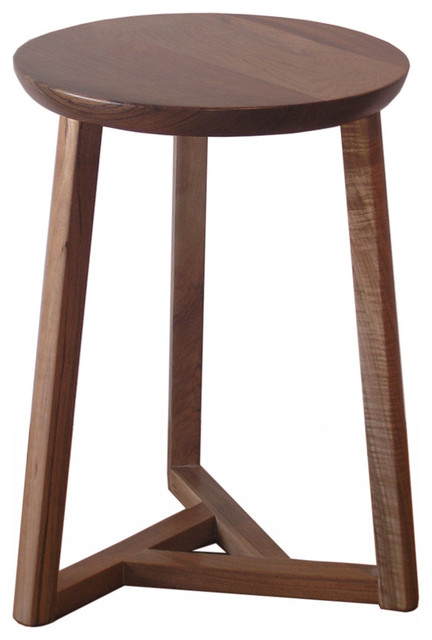 Oslo 3 Legs Stool Medium Contemporary Bar Stools And