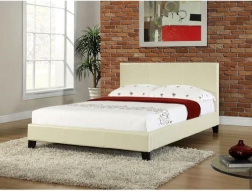 Studio Stratus Upholstered Platform Bed - Cream contemporary-beds