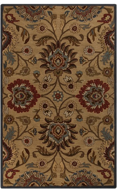 Contemporary Caesar 2'x3' Rectangle Khaki, Taupe Area Rug contemporary-rugs