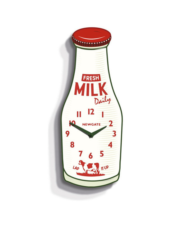 Milk Bottle Clock -