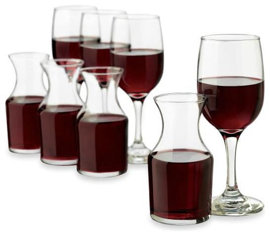 Libbey® Just Cocktails 8-Piece Wine Service Set modern-wine-glasses