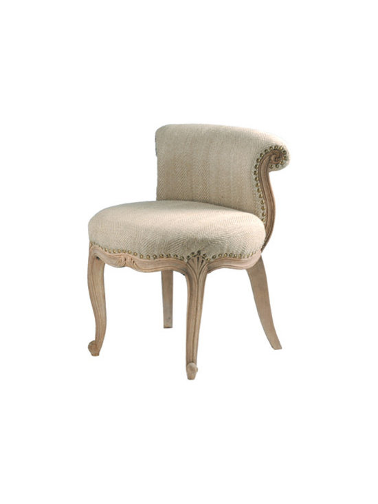French Upholstered Slipper Chair -