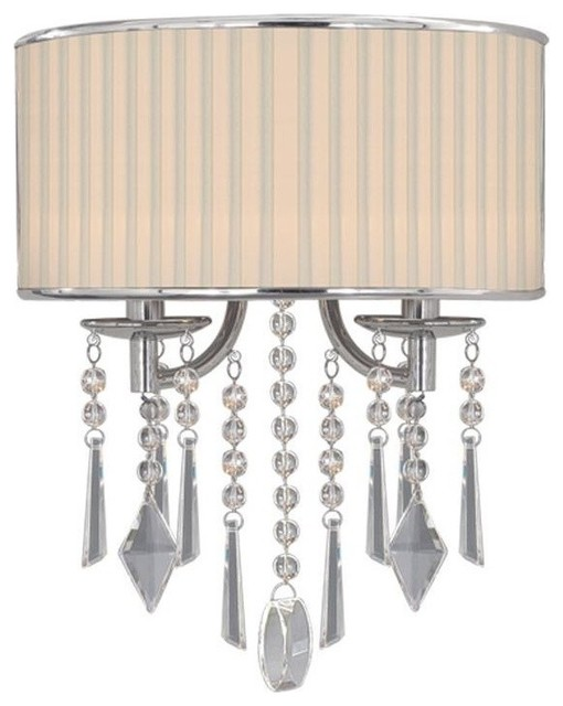 Golden Lighting 8981-WSC-BRI Echelon 2 Light Wall Sconce, Chrome traditional-wall-sconces