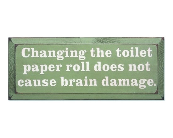 Vintage Sign - Changing the Roll -