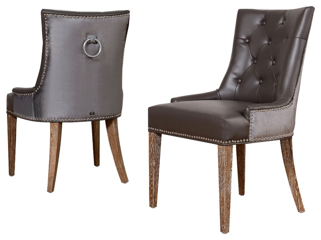 Uptown Leather Velvet Dining Chair Contemporary Dining Chairs New York