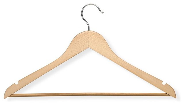 24-Pack Suit Hanger in Maple contemporary-hooks-and-hangers