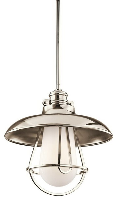 Kichler Lighting KCH-4226PN Saddler Wall Monorail Shade Only contemporary-lighting